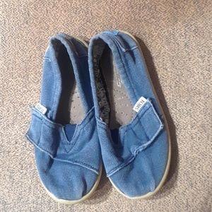 Toms Toddler Blue Slip On Flats